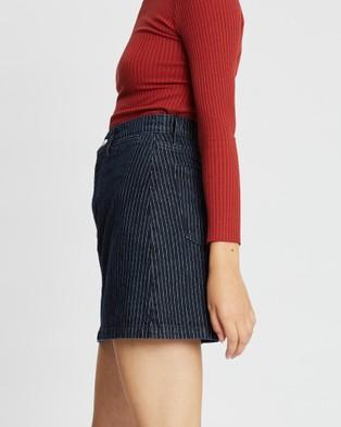 Nobody Denim Franklin Skirt - Denim skirts (Pinstripe)