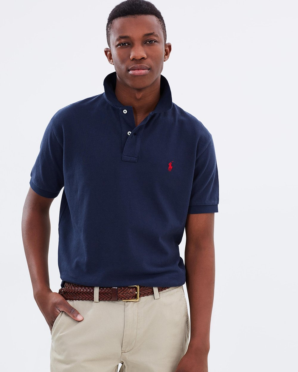 Classic-Fit Mesh Polo Shirt by Polo Ralph Lauren Online   THE ICONIC    Australia 2321bfc70ea6
