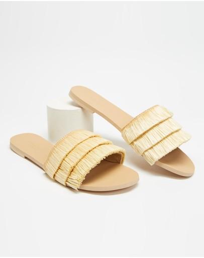 Seafolly Fringe Sandals Natural