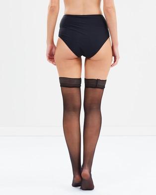 Bluebella Plain Leg Hold Ups   Plain Topped - Hold Up Stockings (Black)