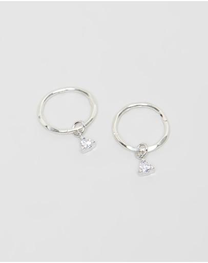 Saint Valentine Mini Hoop Sleepers Silver