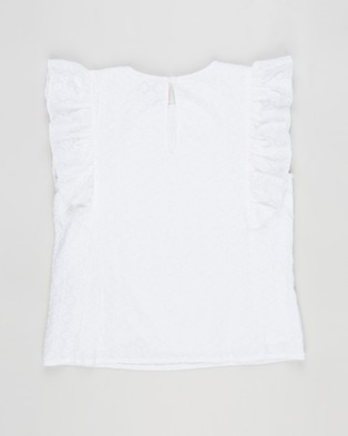 Free by Cotton On - Kiera Broderie Top   Teens - Tops (White) Kiera Broderie Top - Teens