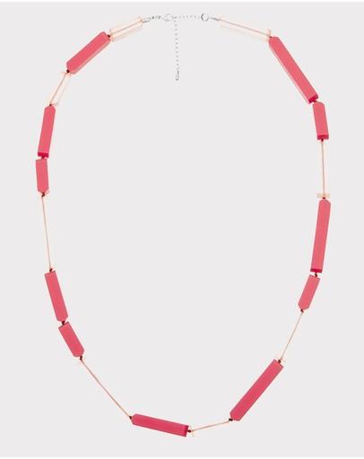 Florence Broadhurst Steps Essential Resin Necklace Pink