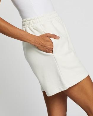 AERE Organic Cotton Comfort Sweat Shorts High-Waisted Cream