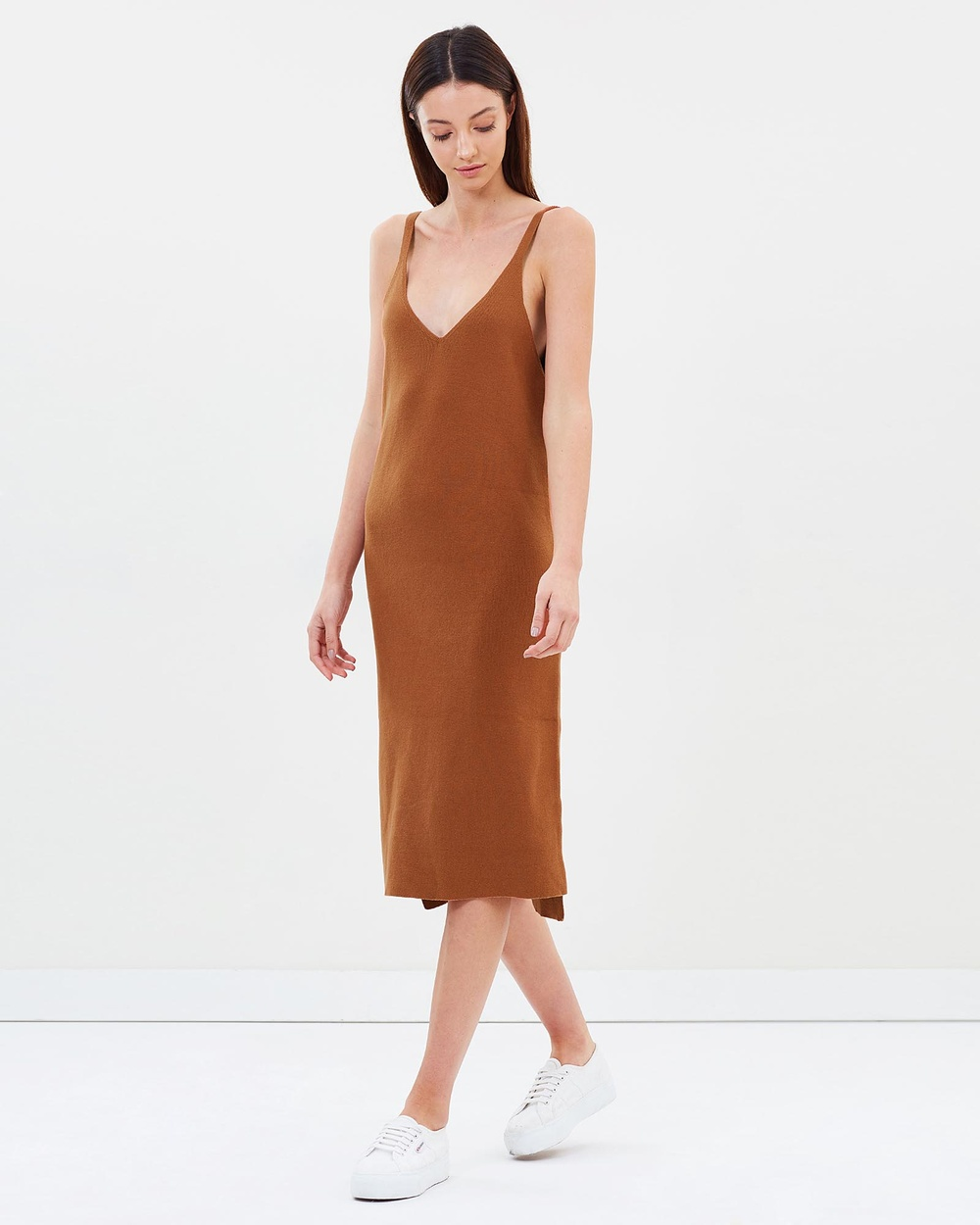 ACHE Nadia Rib Dress Dresses Rust Nadia Rib Dress