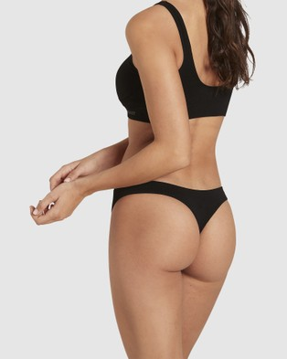 Boody Organic Bamboo Eco Wear 5 Pack G String - Accessories (Black)