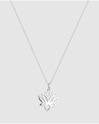 Elli Jewelry - Necklace Necklace Flower Talisman 925 Sterling Silver