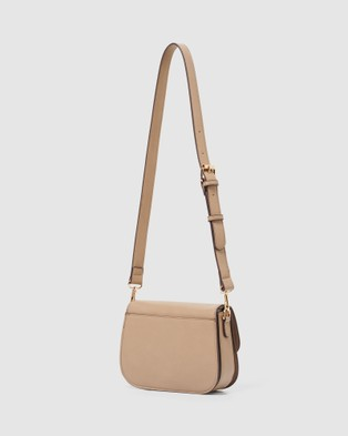 Forever New Lilah Saddle Crossbody Bag - Bags (Taupe)