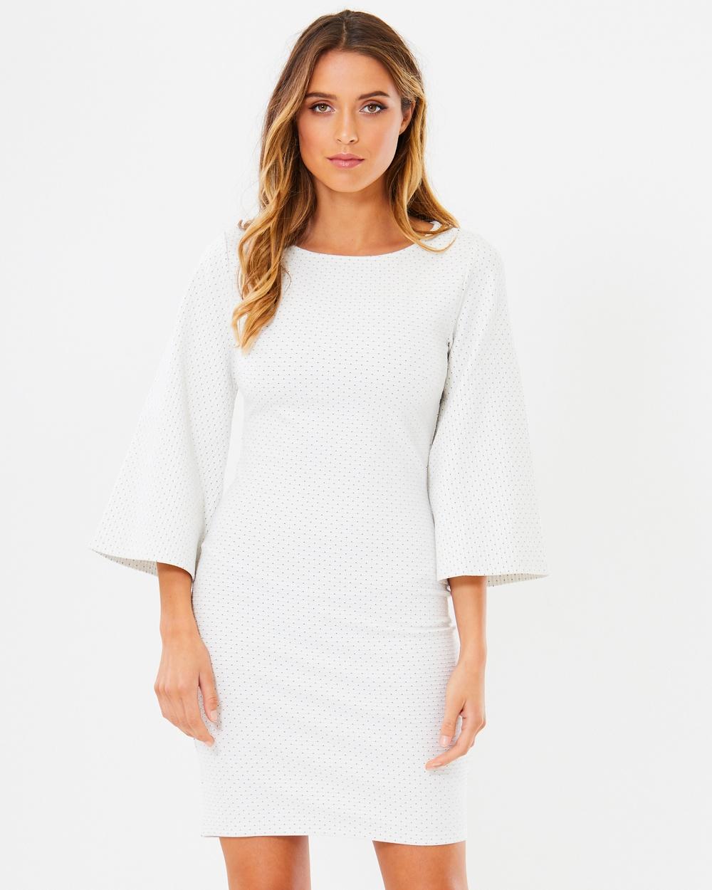 Tussah Gabrielle Bodycon Dress Dresses White Base Spot Gabrielle Bodycon Dress