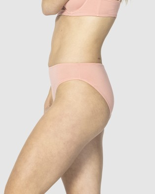 NICO Plant Dyed Organic Cotton Hipster Briefs - Lingerie (Rose)