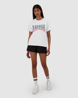 Huffer Women's Stella Tee Ringer - T-Shirts & Singlets (White)