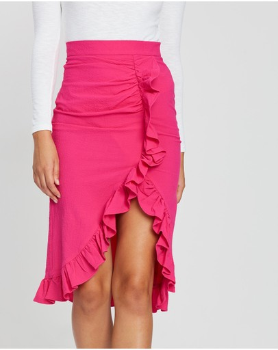 BY JOHNNY. - Ruffle Wrap Skirt