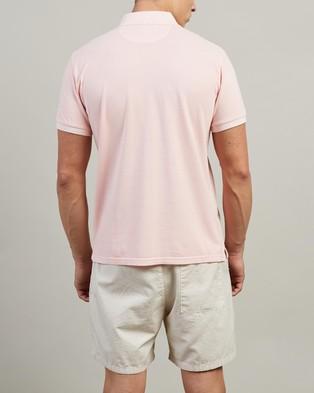 Gant Sunbleached Pique SS Rugger Polo - Shirts & Polos (Seashell Pink)