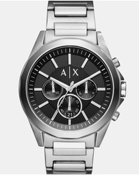 Armani Exchange - Silver-Tone Chronograph Watch