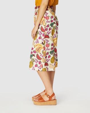 Princess Highway Fruit Salad Skort - Chino Shorts (White)