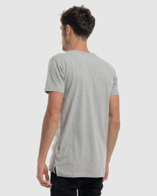 DVNT Anchor Embroidery Tee - Short Sleeve T-Shirts (Grey)