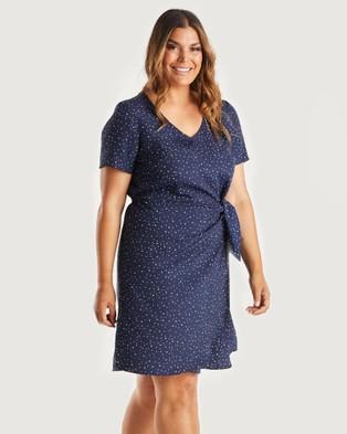 Estelle Endless Spot Dress - Printed Dresses (Navy/Milk)