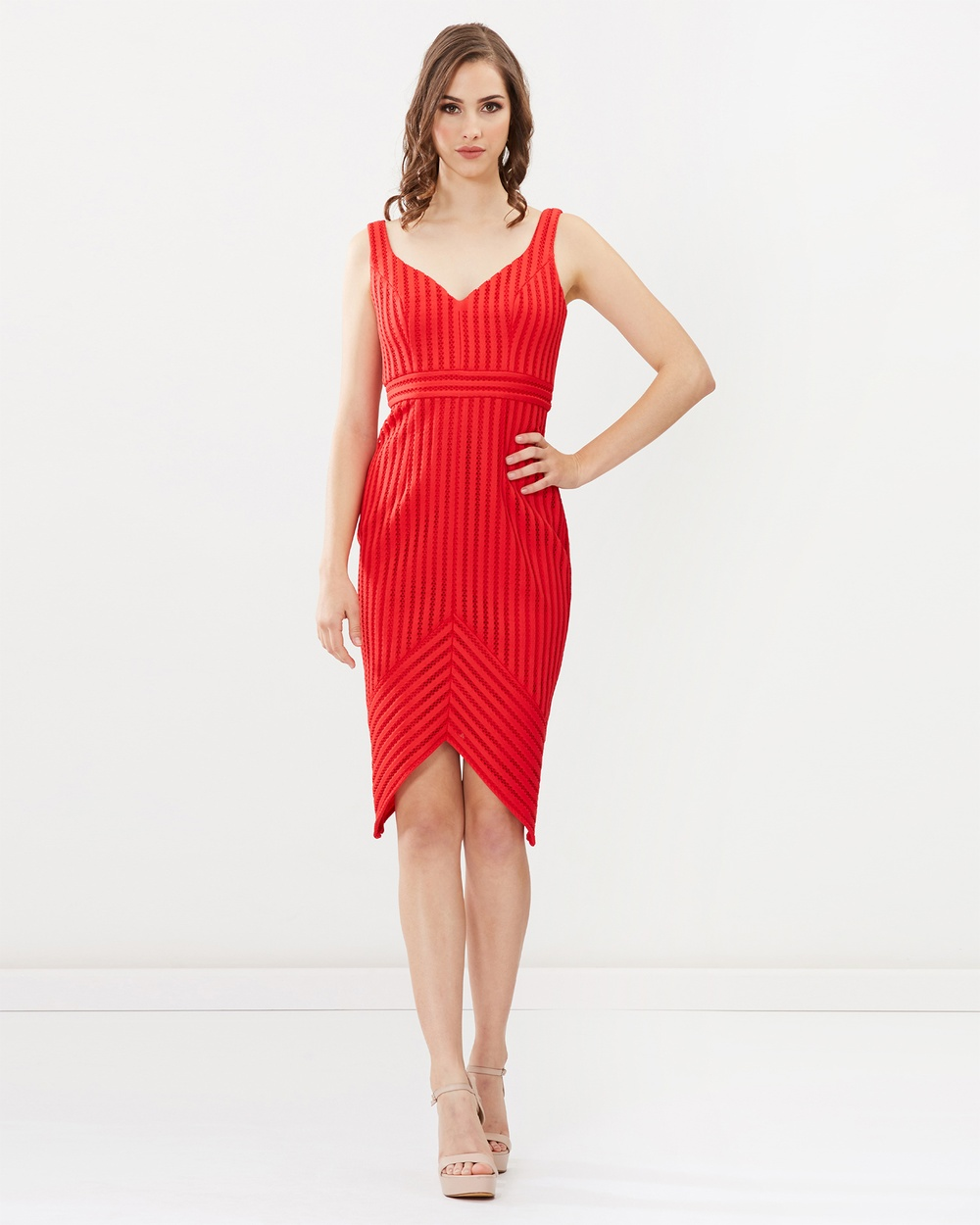 Romance by Honey and Beau Kira Dress Dresses Red Kira Dress