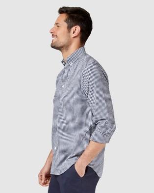 Blazer Reggie Long Sleeve Check Shirt - Shirts & Polos (Navy)