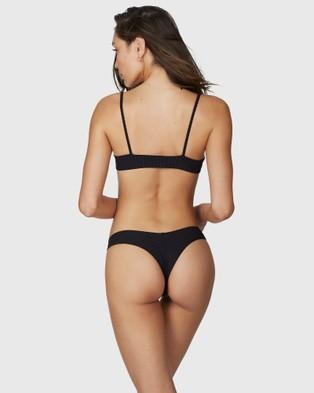 BonEye Swimwear - Sun's Out Briefs - Bikini Bottoms (Black)