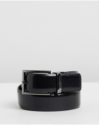 Reversible Gloss Leather Belt