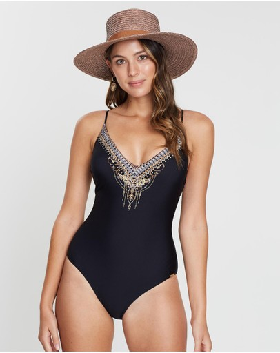 Camilla - Tie Back V-Neck One-Piece