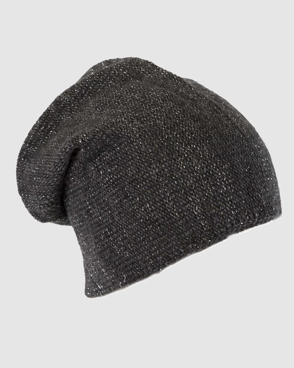 Max Alexander European Made Fashion Wool Beanie Headwear Black