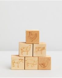 Noc Noc - Traditional Farm Animals Wooden Blocks