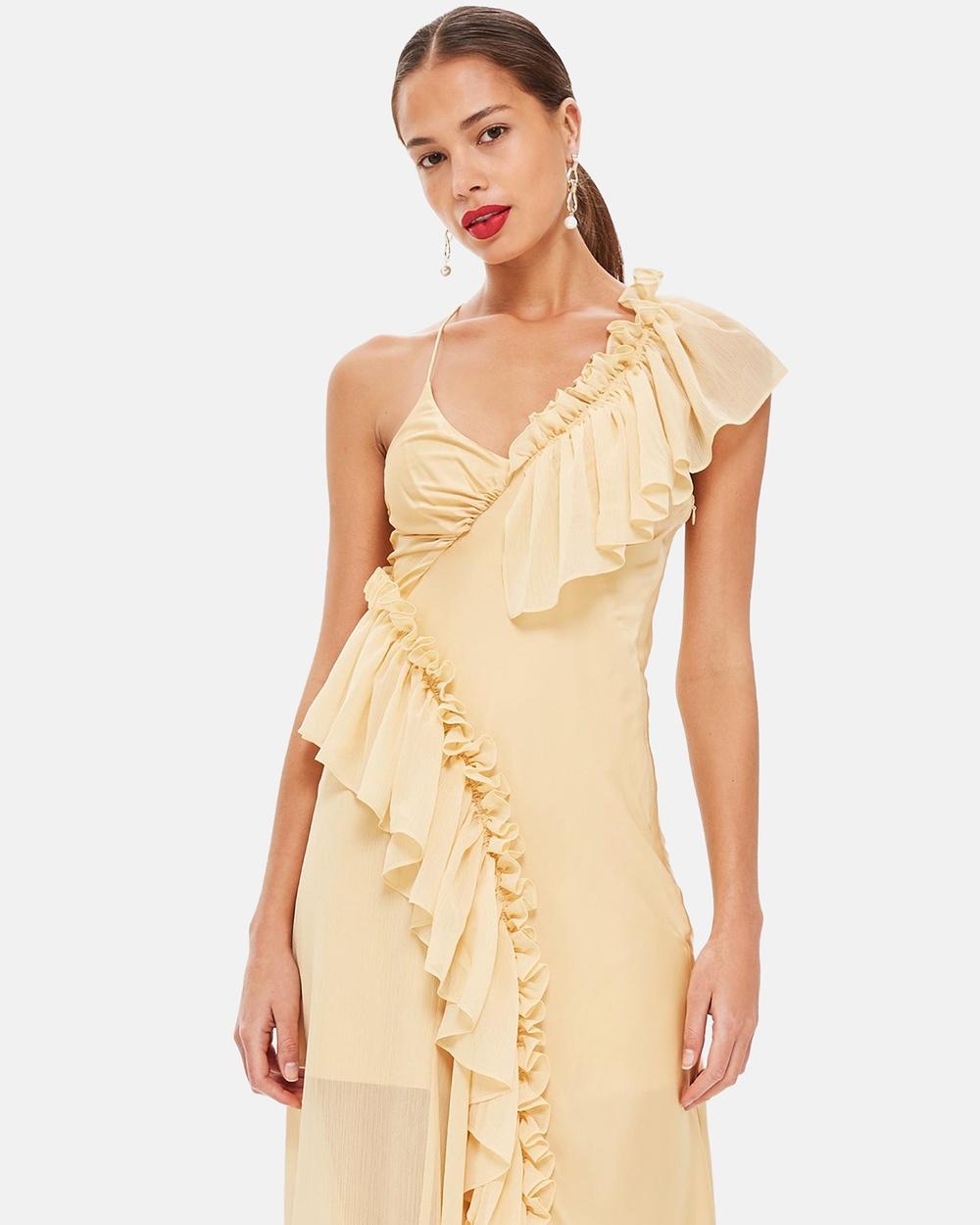 TOPSHOP Solid Maxi Dress Dresses Buttermilk Solid Maxi Dress