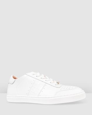 Bared Footwear - Skua Sneakers Women's Casual Shoes (White & Croc)