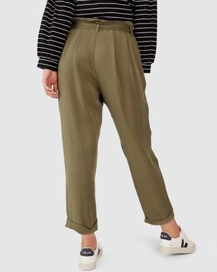Ceres Life Paperbag Waist Pants - Pants (Khaki)