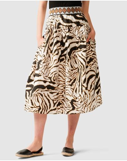 Sacha Drake Gazzara Skirt White Tiger
