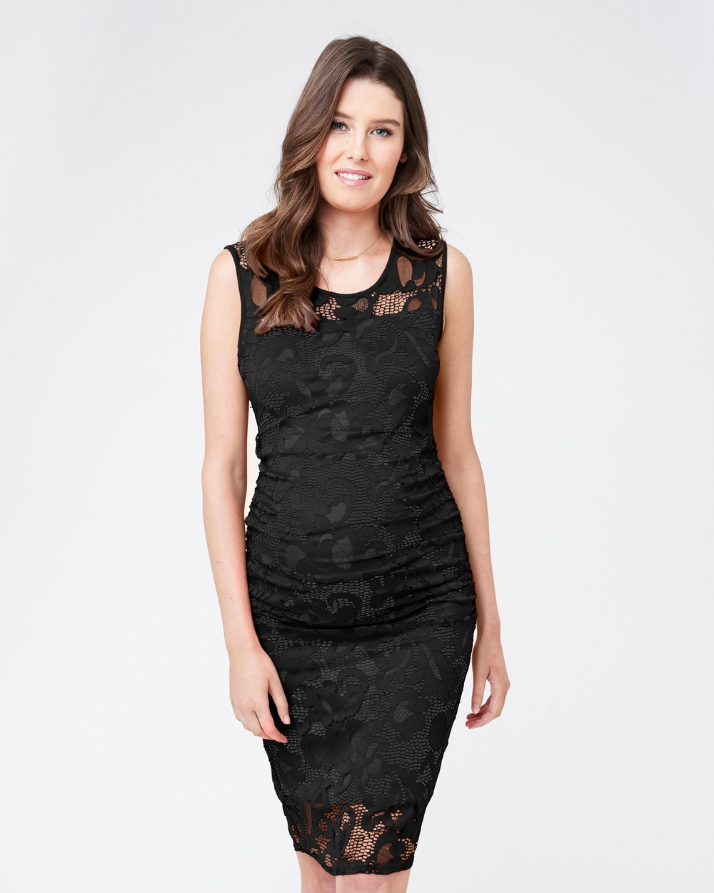 Ripe Maternity Eden Lace Dress Dresses Black Eden Lace Dress