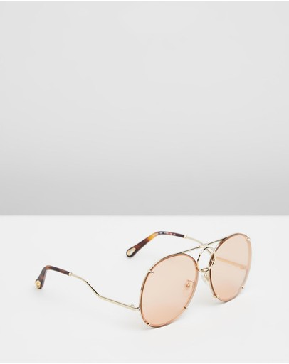 Chloé Vicki Gold Flash & Peach Blue