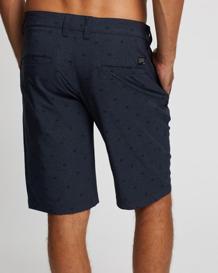 TravisMathew Cue It Up Shorts Heather Blue Nights