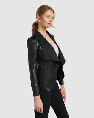 Forever New Lara Waterfall Jacket - Coats & Jackets (Black)
