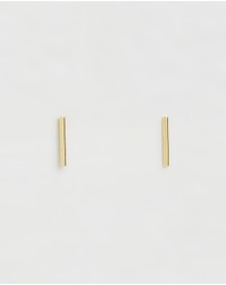 Orelia London - Gold Plated Fine Bar Stud Earrings