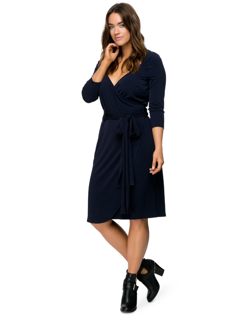 Embody Denim Royal Wrap Dress Dresses Indigo Royal Wrap Dress