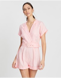 AERE - Belted Button Playsuit