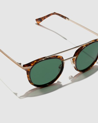 Hawkers Co Carey Green Bottle CITYLIFE - Sunglasses (Brown)