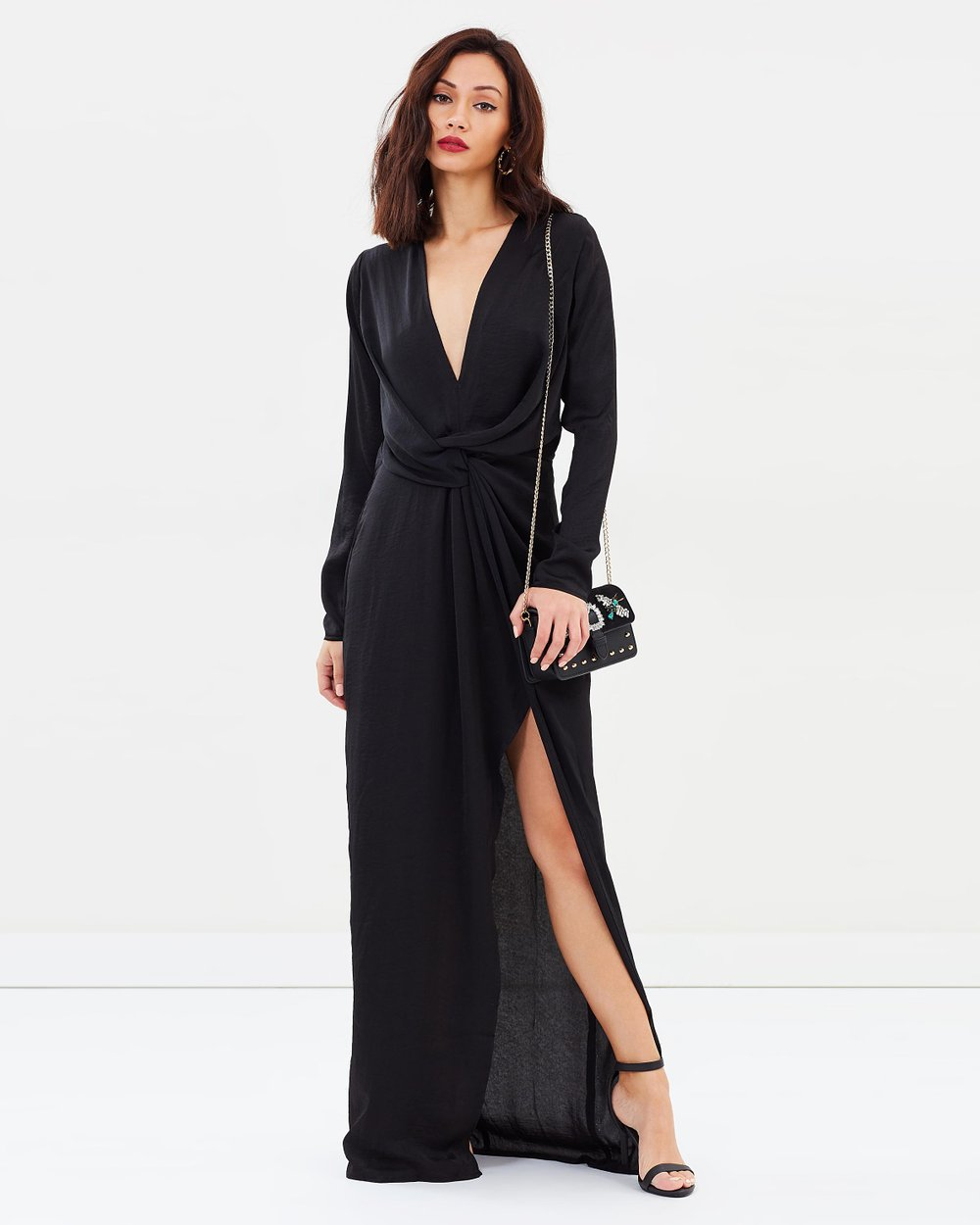 2d6de12056b Wrap Front Maxi Dress by Missguided Online