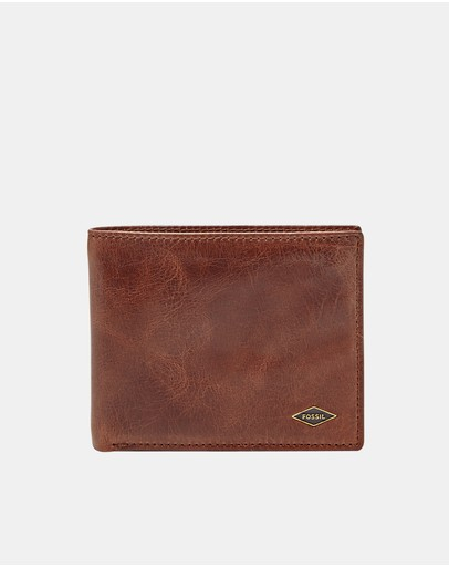Fossil - Ryan Dark Brown RFID Flip ID Bifold