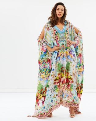 Camilla – Split Front & Sleeve Kaftan – Printed Dresses Miranda's Diary