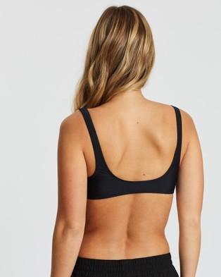 Volcom Simply Solid Scoop Bikini Top - Bikini Set (Black)
