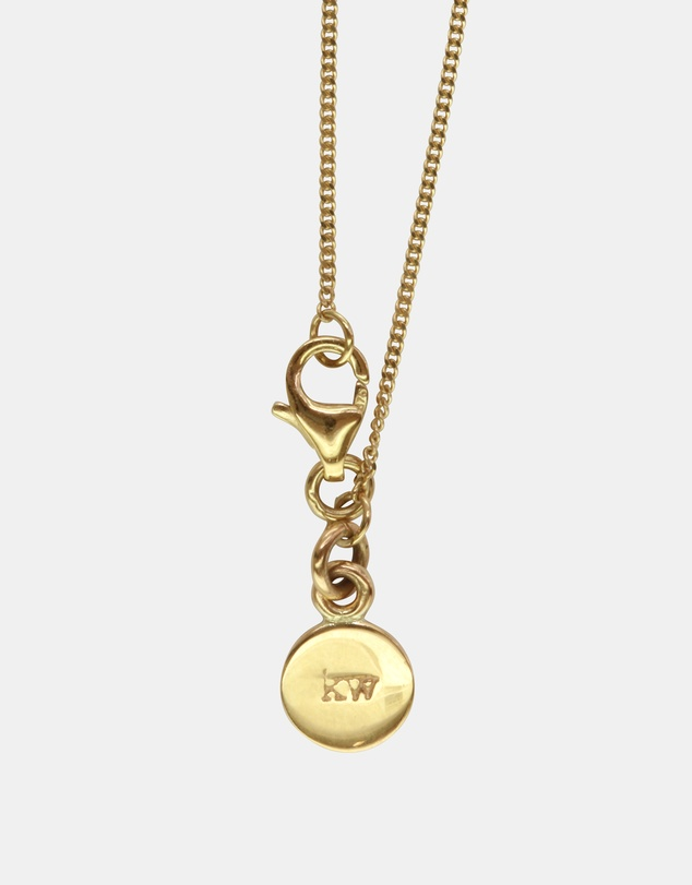 Women W Initial Love Letter Necklace