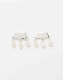 By . G - Raindrop Pearl Earrings
