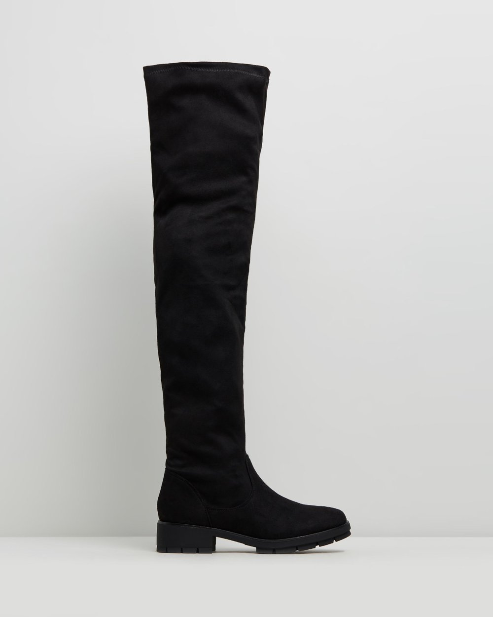 d665354ce Cleated Sole Over-The-Knee Boots by Missguided Online | THE ICONIC |  Australia