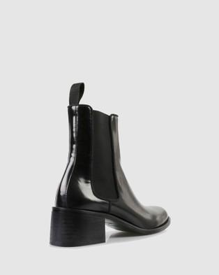 Sempre Di Carole Ankle Boots - Heels (BLACK-902)