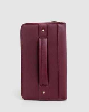 Belle & Bloom Wilona Leather Organiser - Wallets (Maroon)