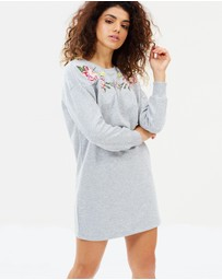Miss Selfridge Petite - Embroidered Sweat Dress